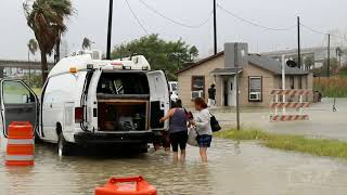 07252020 Corpus Christi TX Hurrican Hanna causes major flooding in North Beach - Images by News