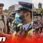 Anti-mask-mob-clash-with-cops-in-Trafalgar-Square-to-protest-against-Covid-19-vaccine-amp-UK-lockdown