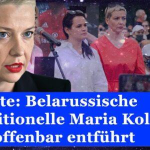 Berichte: Belarussische Oppositionelle Maria Kolesnikowa offenbar entführt