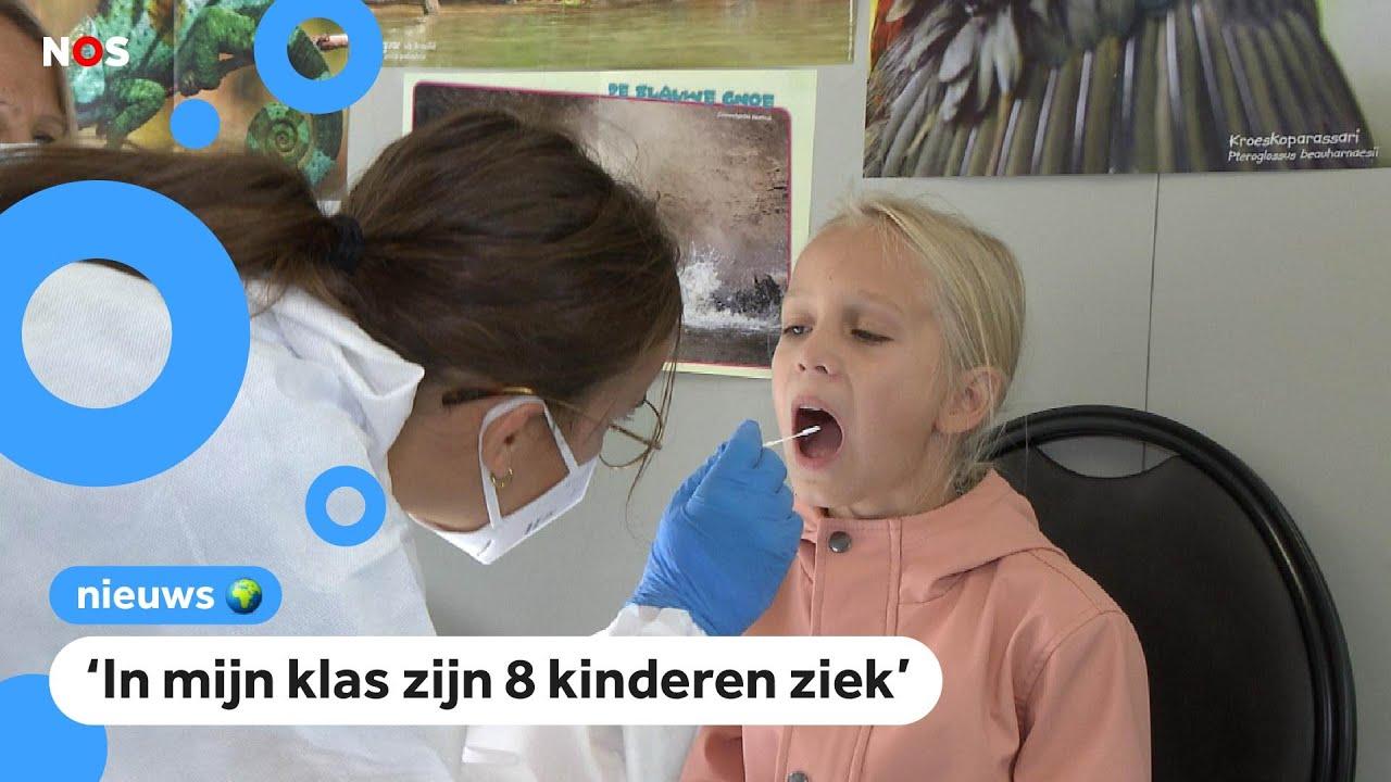 Zo gaat het bij de corona teststraat voor kinderen - Images by News